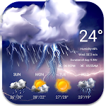 Weather Widget Raining Drops Icon