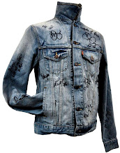 """Photo: Any Glee fans? You can win this Levi's® trucker jacket signed by the entire cast of the TV show """"Glee""""  Make your bid > http://www.ebay.com/itm/Levis-Blue-Jean-Jacket-Mens-Small-Signed-Entire-Cast-Glee-2009-/120921282077?pt=US_CSA_MC_Outerwear&hash=item1c2778561d#ht_500wt_1413"""