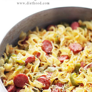 One-Pot Turkey Sausage and Noodles.