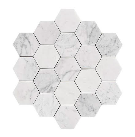 U Hexagon Large Carrara Honed