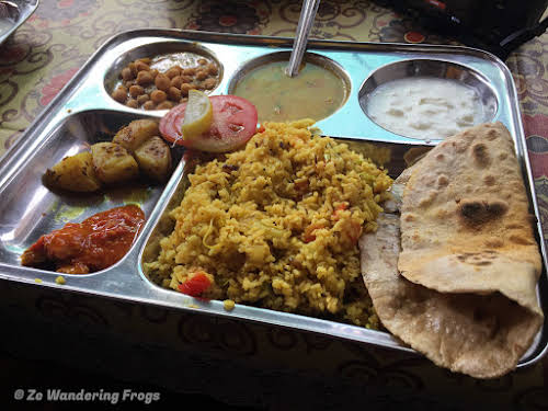 India. Rajasthan Pushkar . Traditional Indian Food