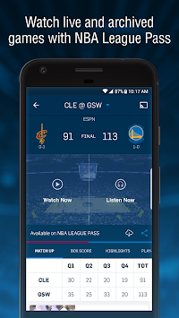 NBA приложение APK screenshot thumbnail 1