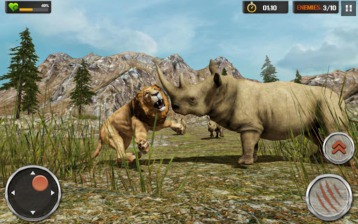The Lion Simulator - Wildlife Animal Hunting Game modavailable screenshots 8