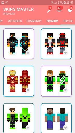 Skins MASTER for MINECRAFT (30 000 Skins) + Editor 2.0 screenshots 2