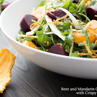 Beet and Mandarin Orange Salad with Crispy Horseradish