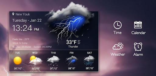 Clock & Weather - Thunder for PC
