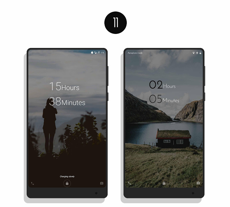 MNML Digital Clock Mods [Substratum] Screenshot 10