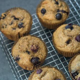 Gluten Free Cashew Meal Blueberry Muffins.
