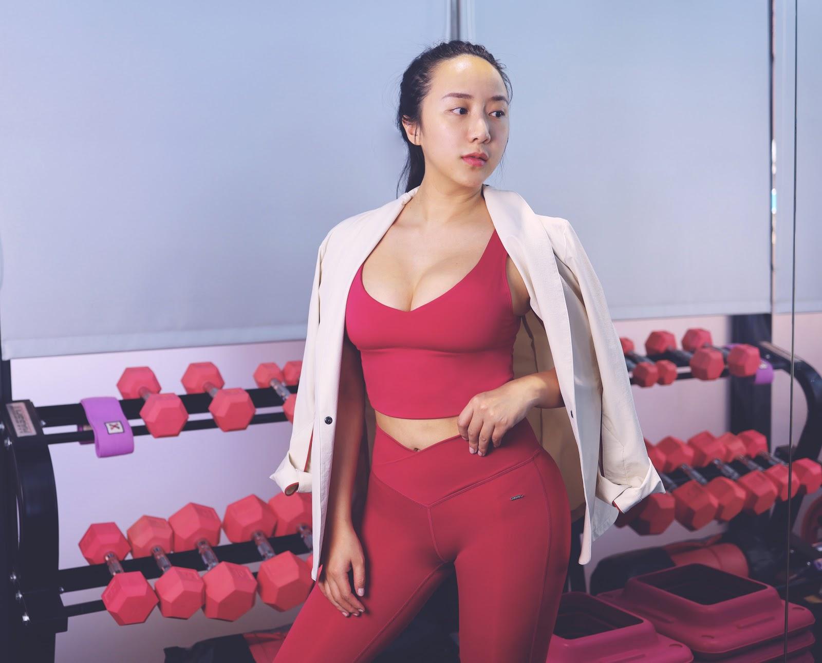 張張 重訓 瑜珈 穿搭 彈力褲 運動內衣 健身 穿搭