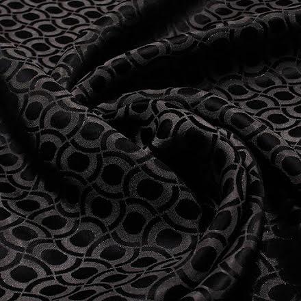 Mönstrat Viskosfoder - svart/grå