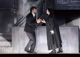 Photo: Salzburger Osterfestspiele 2015: CAVALLERIA RUSTICANA. Premiere 28.3.2015, Inszenierung: Philipp Stölzl. Jonas Kaufmann, Liudmilla Monastyrska. Copyright: Barbara Zeininger