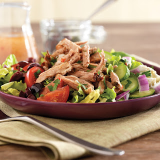 Pulled Pork Greek Salad.