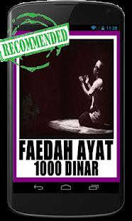 Faedah Ayat Seribu Dinar - náhled