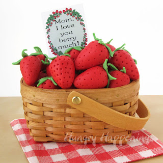 """Gifts of Strawberries and Cream Berry Baskets for """"berry"""" special people."""