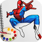 Spider Superhero Coloring Book Pages for kids icon