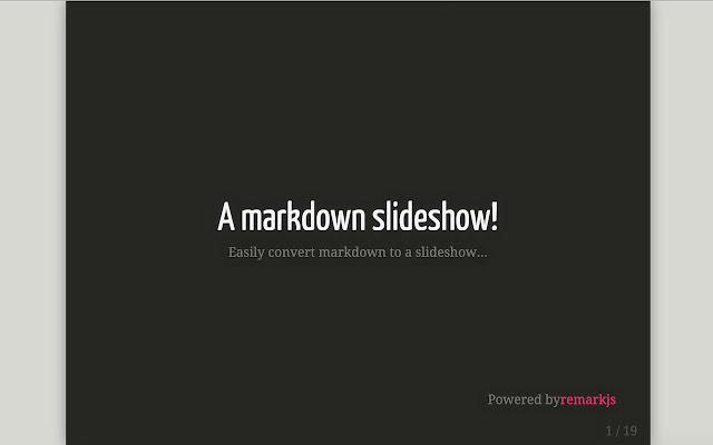 Markdown Slides