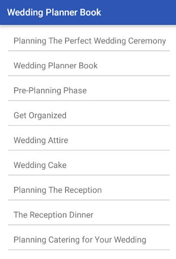 Wedding Planner Book  screenshots 1