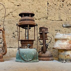 Aladin Lamps by Marcel Cintalan - Artistic Objects Still Life ( lamps, still life, aladin lamps, rusty, turkey, artistic objects,  )