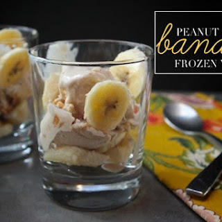 Peanut Butter Banana Frozen Yogurt.