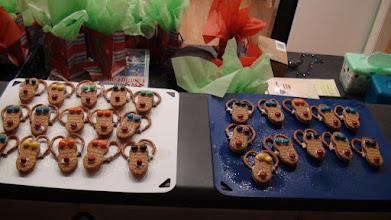 Photo: Alanna, Grandma, and the kids made Reindeer cookies!