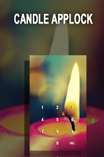 AppLock Theme Candle - náhled