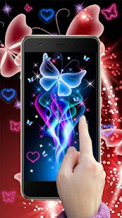 Neon motýli LiveWallpaper - náhled