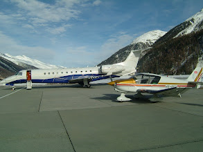 Photo: The HB-KFU looks small even compared to this jet http://www.swiss-flight.net