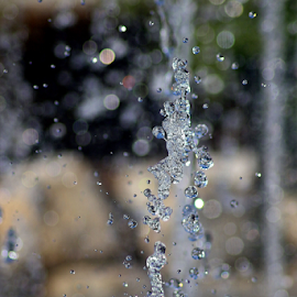 Water Abstract #2 by Tony Huffaker - Nature Up Close Water ( drops, reflection, light, air, water )