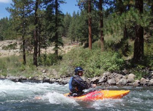 Photo: BruceF running the Truckee River.