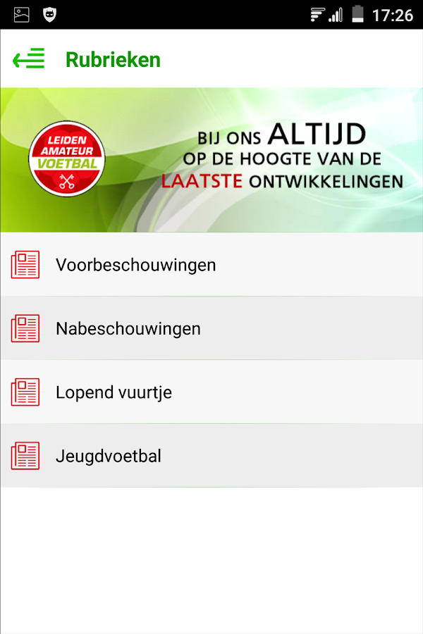 Leidenamateurvoetbal- screenshot