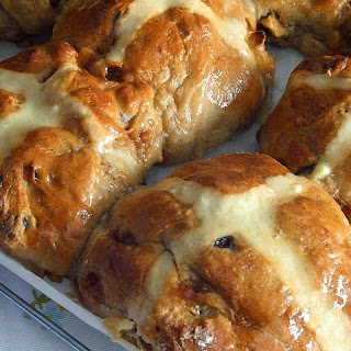 Apple and Fudge Hot Cross Buns