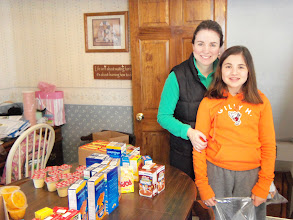 Photo: Stephanie & Katerina packing kare kits! March 2013.