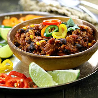 Veggie Protein, Black Bean and Corn Chili