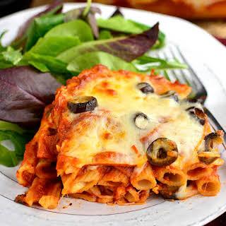 5-Ingredient Pizza Pasta Bake.