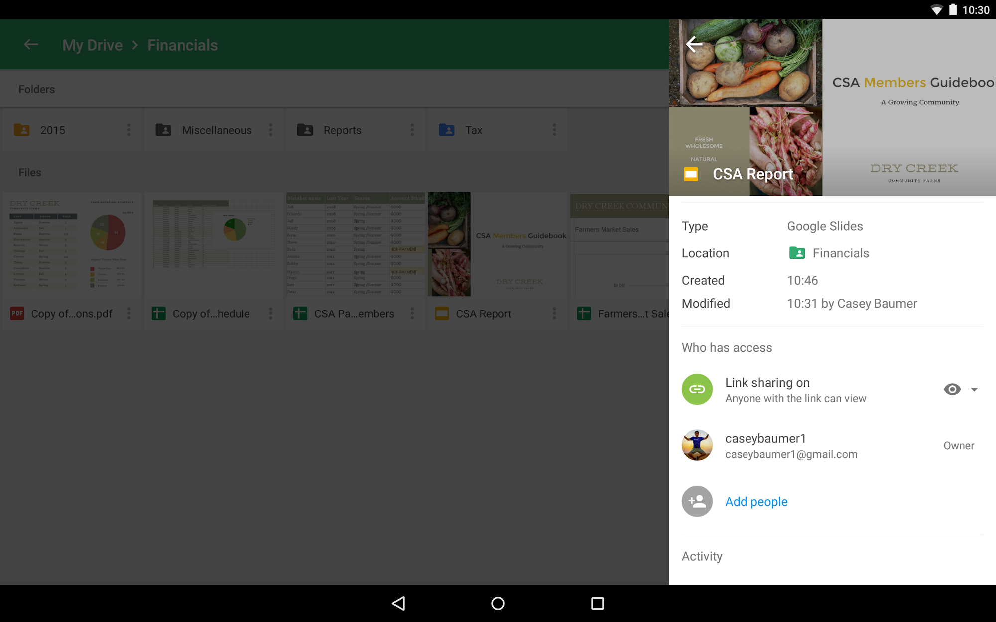 Google Drive screenshot #12