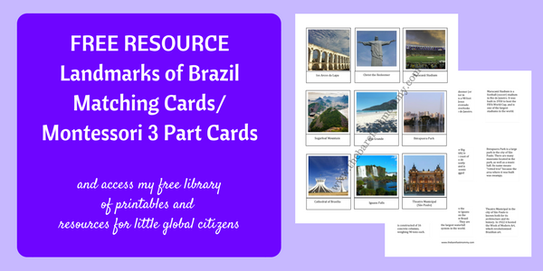 Get your free Brazil landmark matching cards