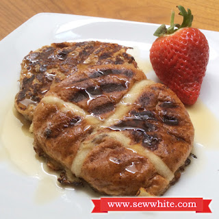 Hot Cross Bun French Toast.