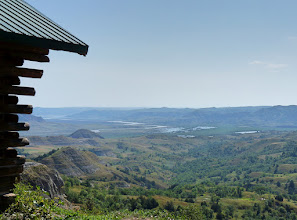 Photo: Grandview cabin is well named, as the view of the Little Missouri River valley was truly grand.