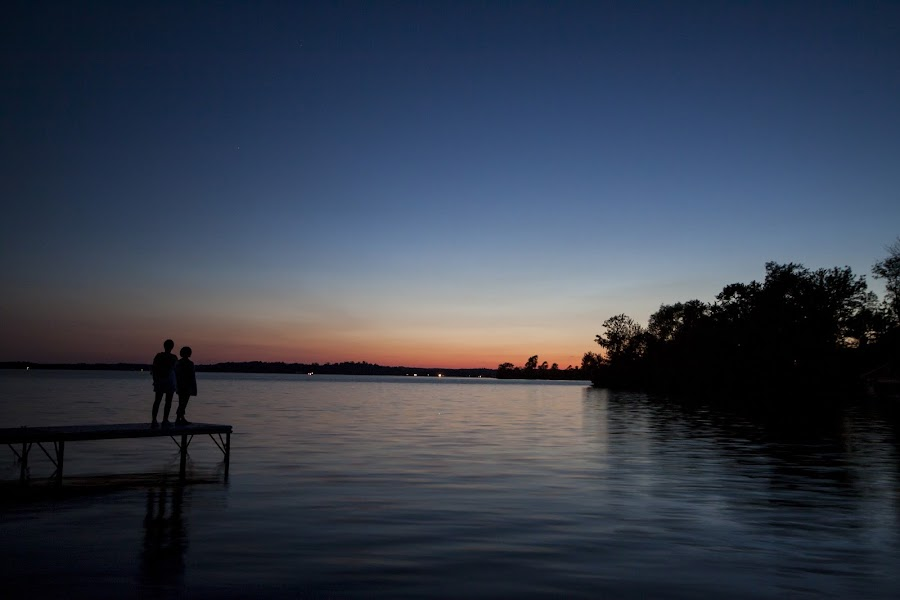 Just Enough Sun by Riley Turpin - Landscapes Sunsets & Sunrises ( water, tree, silhouette, sunset, summer, lake, colours )