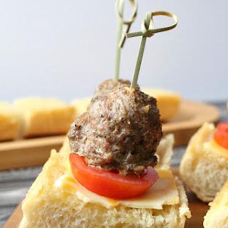 Italian Meatball Appetizers.