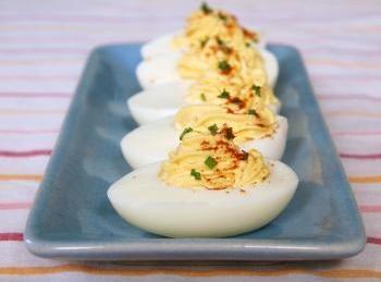 Deviled Eggs - Oeufs Mimosa Recipe