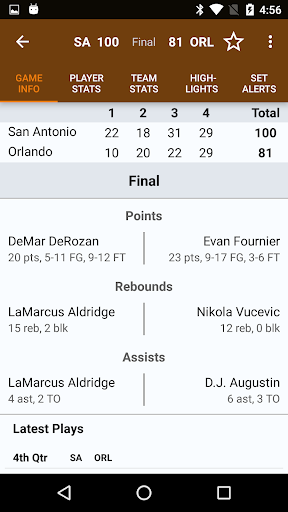 Sports Alerts - NBA edition 2.7.2 screenshots 5