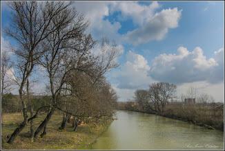 Photo: Râul Arieș - zona dig Poiana - vedere de pe pod - 2018.03.28