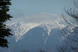 上河内岳(雲の中…)