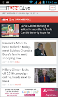 Screenshot of IBNLive for Android