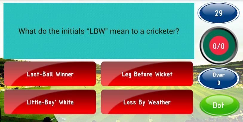 Quizzy Cricket- screenshot thumbnail
