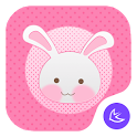 Pink Girl-APUS Launcher theme icon