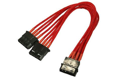 Forgrener, 4 pins drev til 2x4 pins drev, lederstrømper, 20 cm, rød