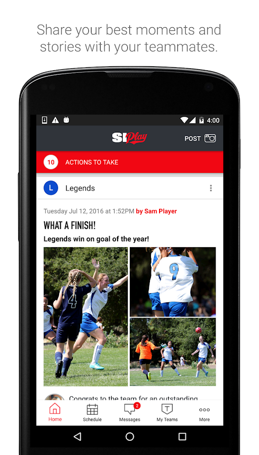 SI Play - Sports Team Management Free App- screenshot