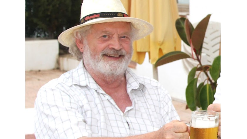 Paul Polansky, en una de sus últimas visitas a Mojácar.